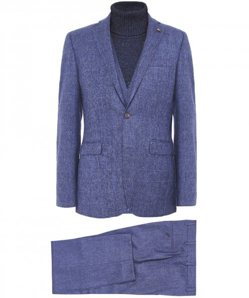 Magee New Wool Three Piece Finn T2 Check Suit