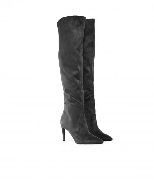 Kendall and Kylie Shoes Faux Suede Zanna Knee High Boots