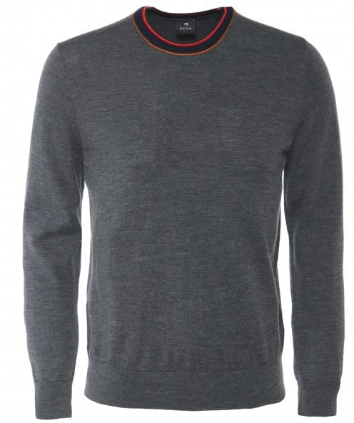PS by Paul Smith Merino Wool Blend Crew Neck Jumper