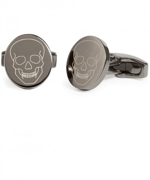 Simon Carter Laser Engraved Skull Cufflinks