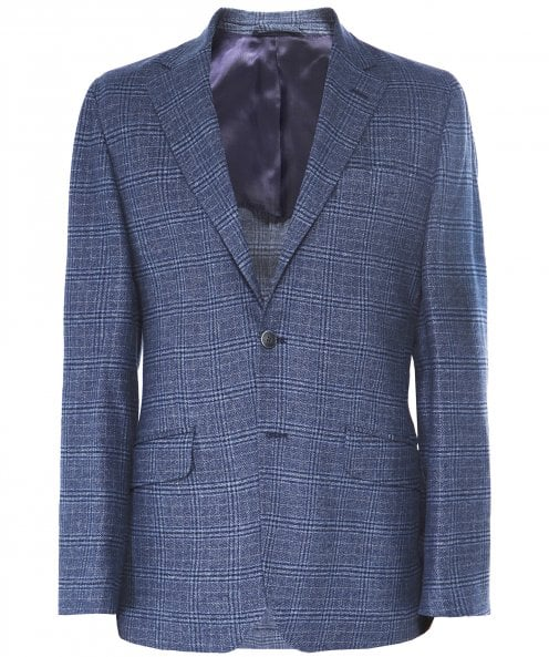 Hackett Brushed Cotton Check Blazer