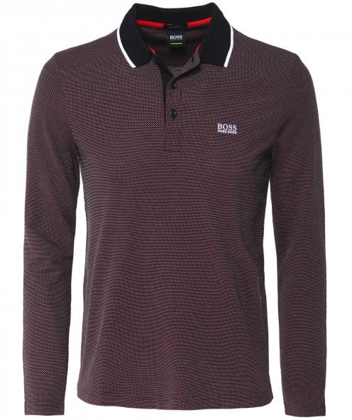 BOSS Regular Fit Textured Pique Plisy 1 Polo Shirt