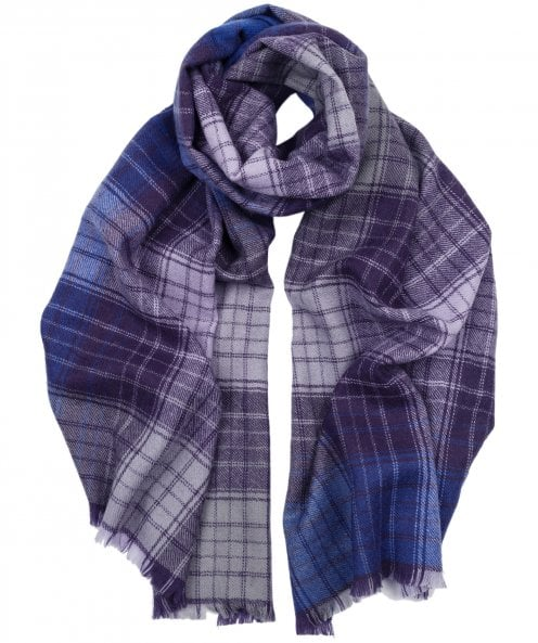 Hogarth Cashmere & Lambswool Gradient Check Scarf