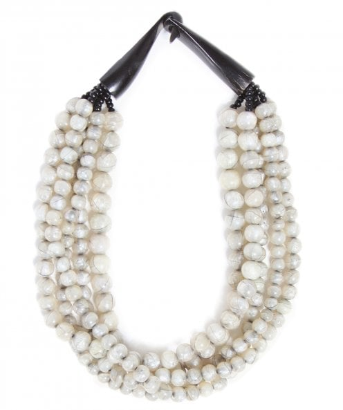 Nouv-Elle Five Strand Beaded Necklace