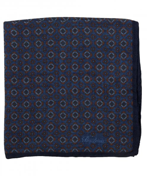 Stenstroms Wool & Silk Blend Patterned Pocket Square