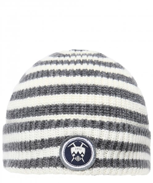 Edmund Hillary New Wool Striped Beanie Hat
