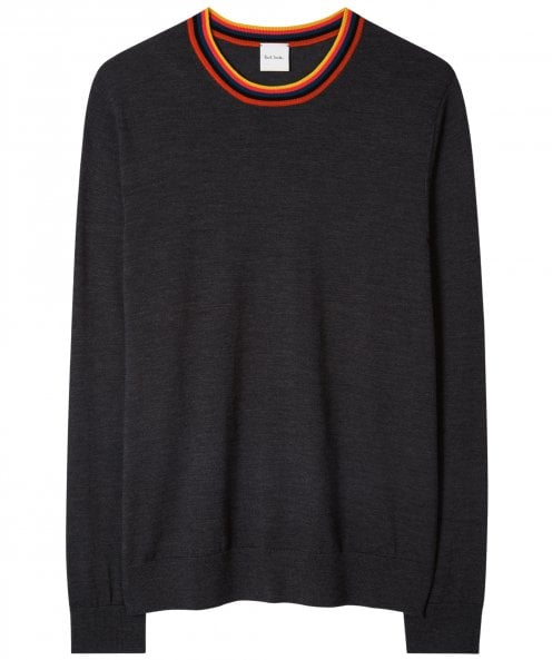 Paul Smith Merino Wool Artist Stripe Collar Jumper