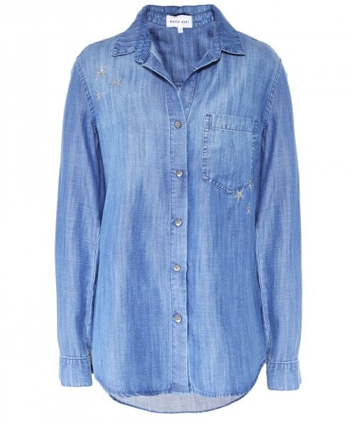 Bella Dahl Star Embroidered Button Down Shirt