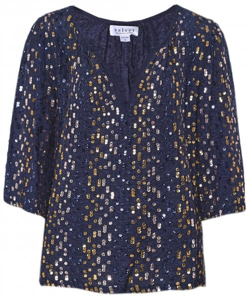 Velvet by Graham and Spencer Prima Sequin Top