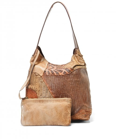 Alchimia Leather Mixsa Textured Shoulder Bag