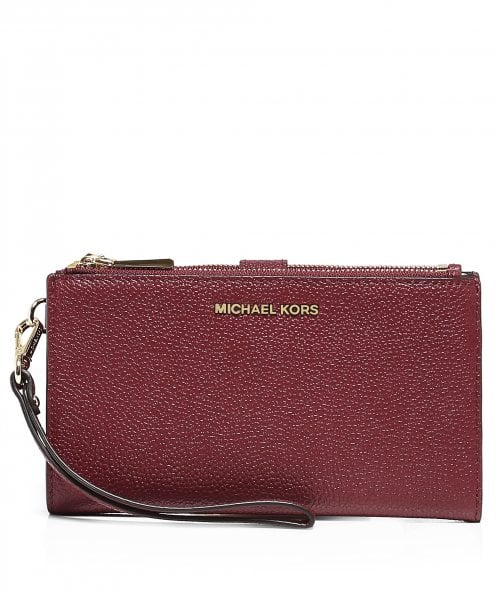 MICHAEL Michael Kors Mercer Pebble Leather Phone Wristlet