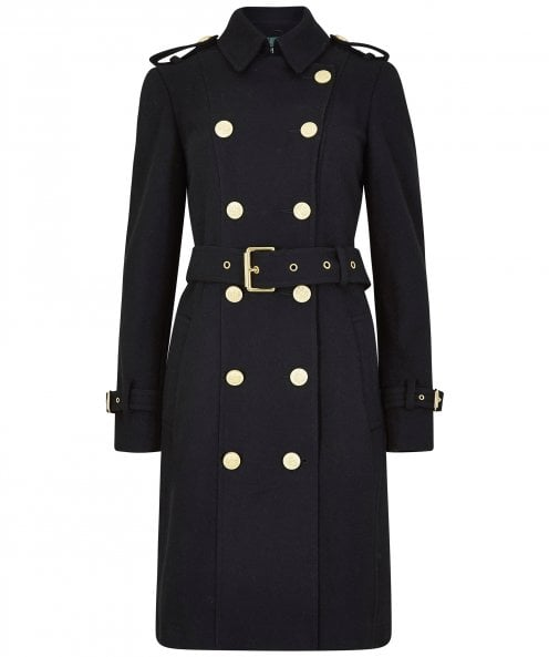 Holland Cooper Wool Marlborough Trench Coat