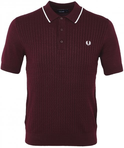 Fred Perry Tipped Knitted Polo Shirt K5500 G21