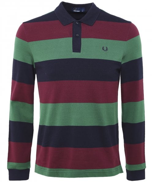 Fred Perry Enlarged Stripe Polo Shirt M5509 608
