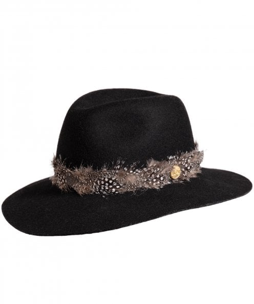 Holland Cooper Grayson Trilby Hat with Feather Band