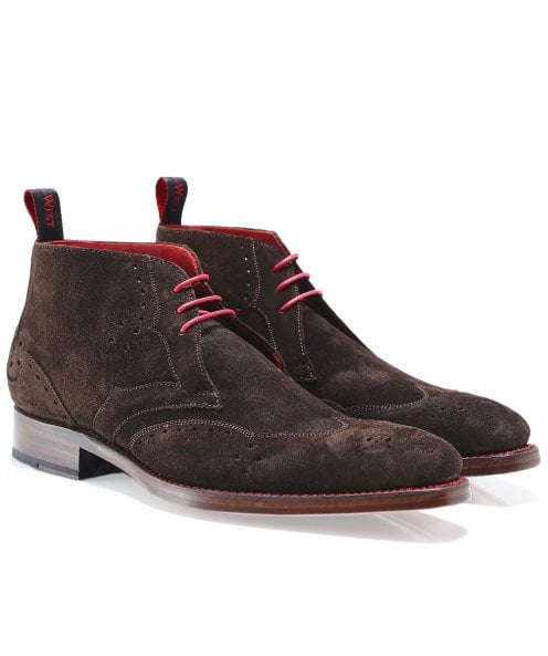 Jeffery-West Suede Cutthroat Chukka Boots