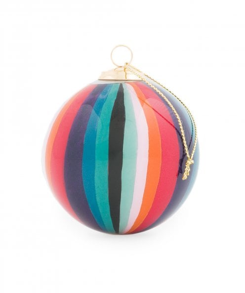 Paul Smith Hand Painted Artist Stripe Glass Bauble