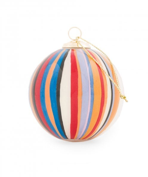 Paul Smith Hand Painted Signature Stripe Glass Bauble