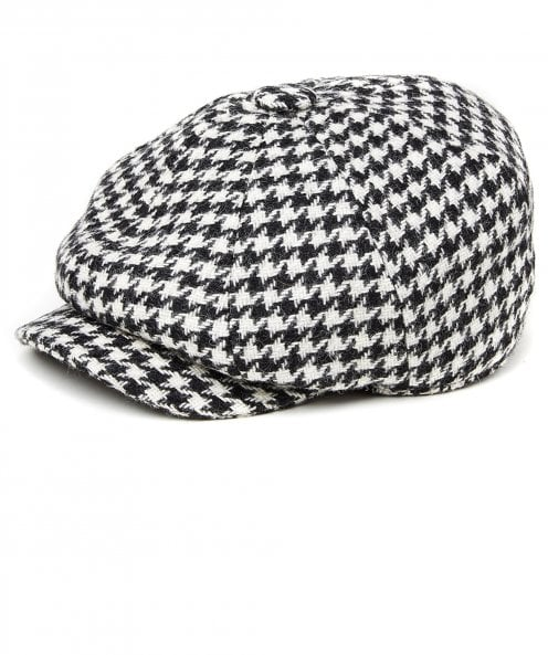 Holland Cooper Tweed Houndstooth Baker Boy Cap