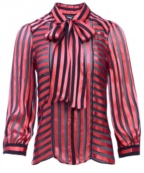 Alice and Olivia Silk Blend Willis Tie Neck Blouse