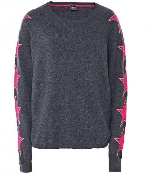 Cocoa Cashmere Cashmere Star Sleeve Jumper