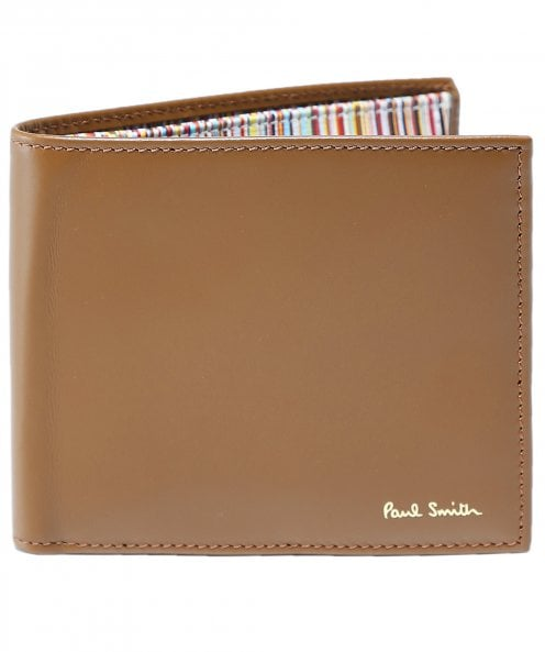 Paul Smith Leather Signature Stripe Interior Coin Wallet
