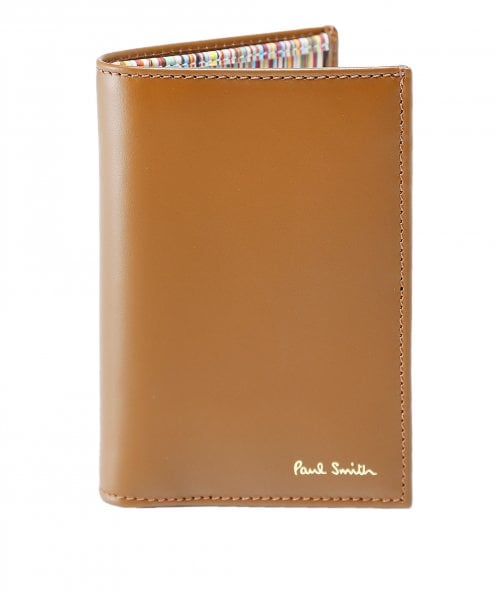 Paul Smith Leather Signature Stripe Interior Card Wallet