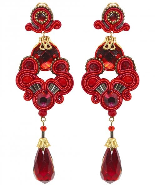 Candela de Reina Coral Jewel Drop Earrings