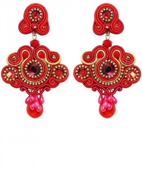 Candela de Reina Escarlata Drop Earrings