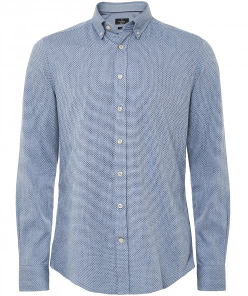 Hackett Slim Fit Herringbone Cross Shirt