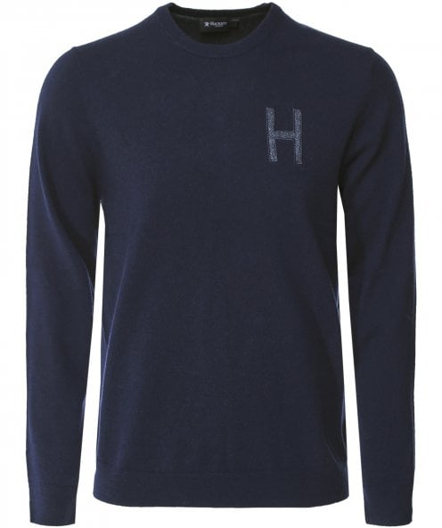 Hackett Cashmere Blend Tweed Trim Jumper