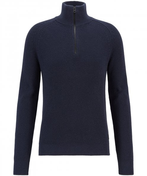 BOSS Casual Regular Fit Half-Zip Karby Jumper