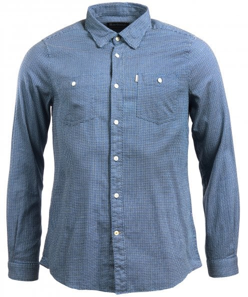Barbour Tailored Fit Jacquard Somme Shirt