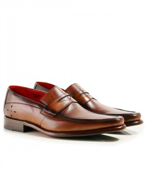 Jeffery-West Leather Checked Loafers