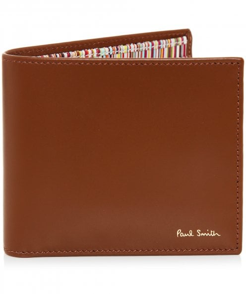 Paul Smith Leather Signature Stripe Interior Billfold Wallet