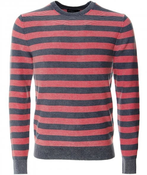 Hackett Knitted Cotton Striped Jumper