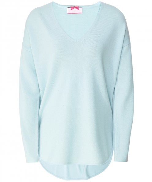 Cocoa Cashmere Cashmere V-Neck Side Zip Jumper