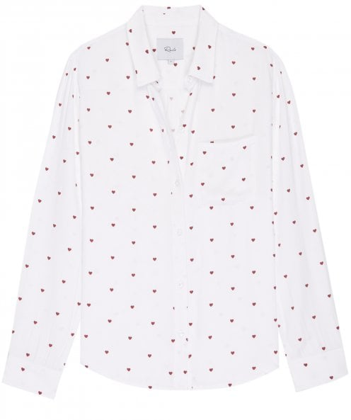 Rails Rocsi Heart Print Shirt