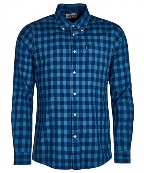 Barbour Tailored Fit Indigo Check Shirt