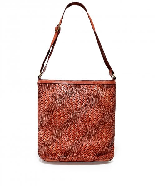 Campomaggi Large Leather Woven Shopper Bag