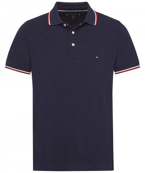 Tommy Hilfiger Slim Fit Tommy Tipped Polo Shirt