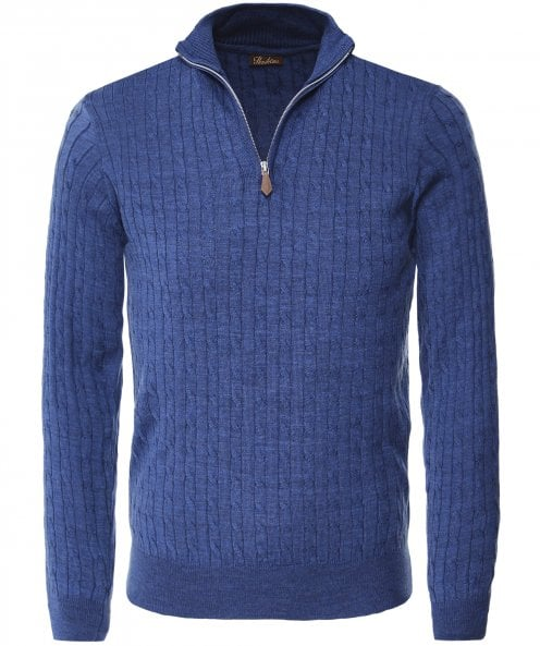 Stenstroms Cable Knit Half-Zip Jumper