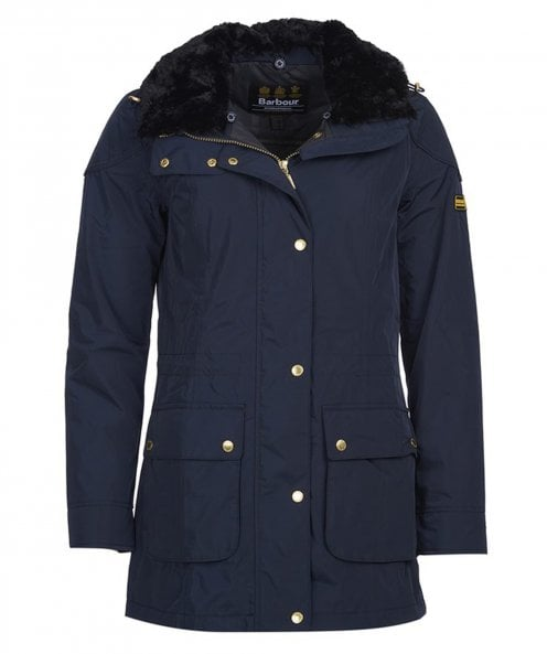 Barbour International Garrison Fur Collar Jacket