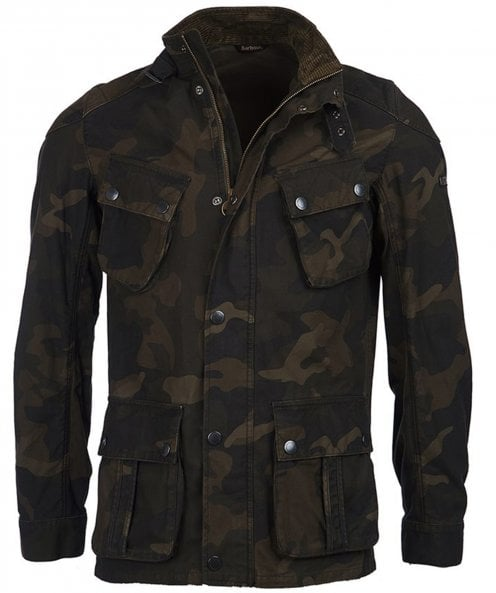 Barbour International Washed Cotton Camo Jacket