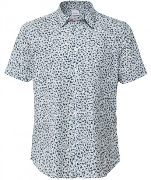 PS by Paul Smith Slim Fit Short Sleeve Floral Shirt