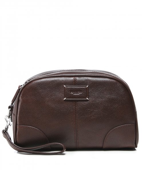 Hackett Leather Foxley Wash Bag