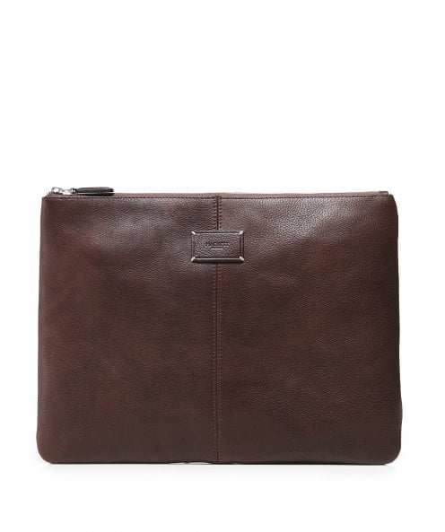 Hackett Leather Foxley Portfolio Pouch