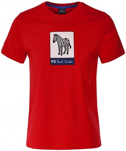 PS by Paul Smith Organic Cotton Zebra Print T-Shirt