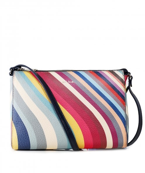 PS by Paul Smith Leather Swirl Print Cross Body Bag