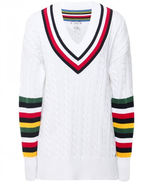 Tommy Hilfiger Janah Cable Knit Cricket Jumper